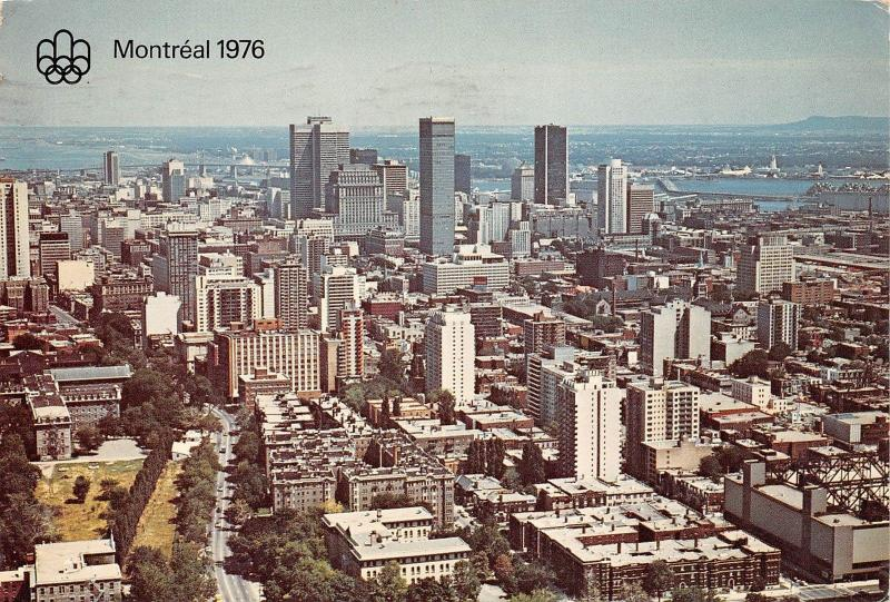 Canada Montreal Quebec General view Air view Panorama