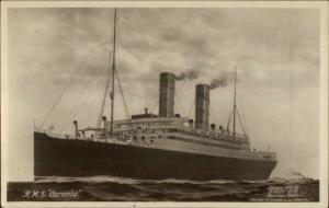Steamship RMS Caronia c1915 Real Photo Postcard