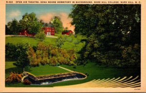 North Carolina Mars Hill Open Air Theatre Edna Moore Dormitory In Background ...
