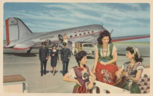 Flagship Airplane of AMERICAN AIRLINES , Mexico , 40-50s