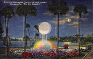 [ Linen ] US Florida Orlando - Lake Ivanhoe Fountain