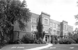 Little Falls Minnesota~High School Building~Ivy Along Side~1940s RPPC