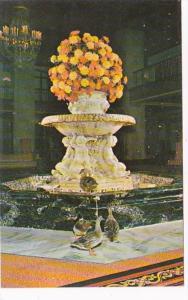 Tennessee Memphis SHeraton-Peabody Hotel Lobby Fountain and Ducks Union Avenue