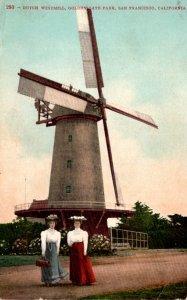 California San Francisco Golden Gate Park The Dutch Windmill 1911