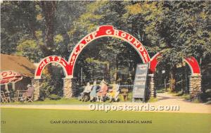 Old Orchard Beach, Maine, ME, USA Postcard Camp Ground Entrance Unused
