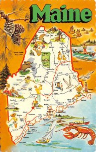 Maps Maine USA 1981