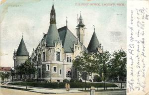 Saginaw Michigan~U.S Post Office~Pointy Towers 1906 To Ida Gowdy of Coldwater