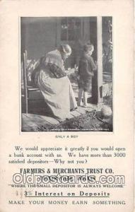 Farmers & Merchants Trust Co Connersville, Indiana, USA Postcard Post Card Co...