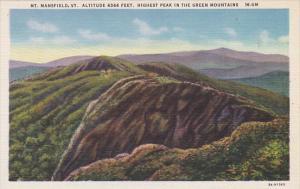 Vermont Mount Mansfield Highest Paek In The Green Mountains Curteich