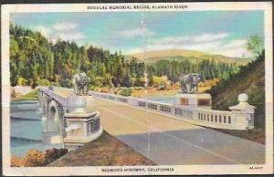 Franklin.  Douglas Memorial Bridge.  penny postcard.  used