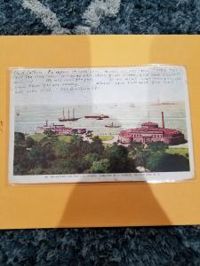 Antique Postcard, Battery and New York Harbor