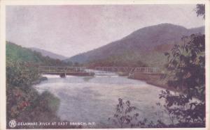 NEW YORK CITY, New York, 1900-1910's; Delaware River At East Branch, Bridge
