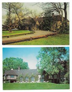 Reading PA Stokesay Castle Restaurant 2 Vintage Postcards