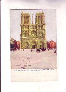 Notre Dame Cathedal, Paris, France, World Series Card 23