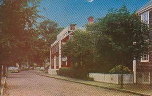 Massachusetts Nantucket Typical House On Cobble Stoned Bridge