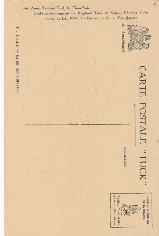 LILLE , France, 1900-10s ; Eglise Saint-Maurice ; TUCK 16