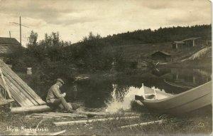 finland suomi, KORKEAKOSKI, Partial View (1925) Päijänne J. Kylä RPPC Postcard