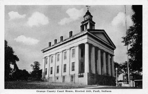 Orange County Court House Paoli Indiana postcard