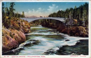 [ Haynes Photo ] US Wyoming Yellowstone - Canyon Bridge