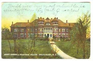 State Normal & Industrial College, Greensboro, North Carolina, PU-1908