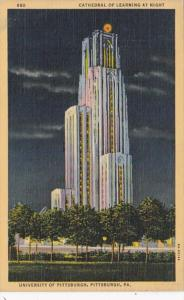 Pennsylvania Pittsburgh Cathedral Of Learning University Of Pittsburgh 1942 C...