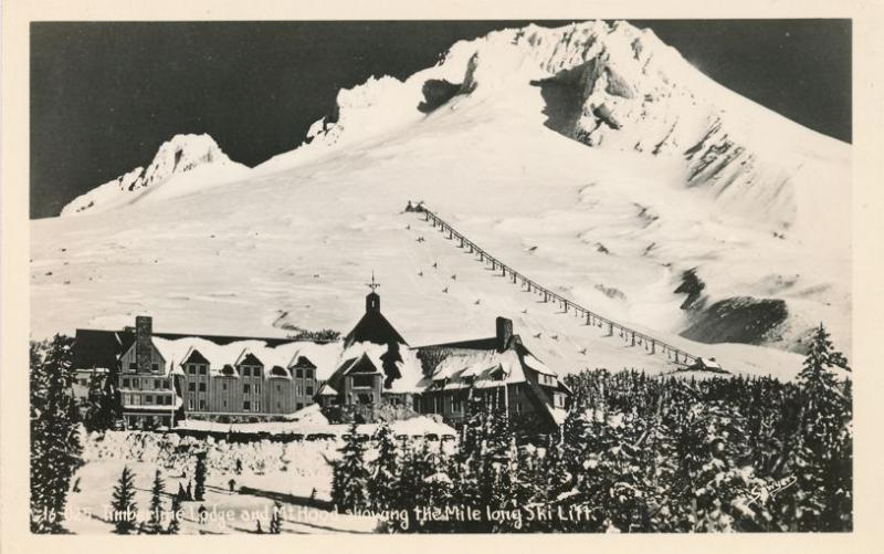 RPPC Mile Long Ski Lift at Timberline Lodge at Mount Hood, Oregon