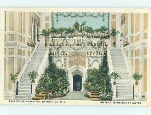 Unused W-Border STAIRCASES THAT MONASTERY Washington DC A8348