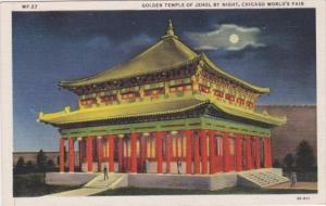 Illinois Chicago The Golden Temple Of Jehol By Night Chicago World's Fair Cur...