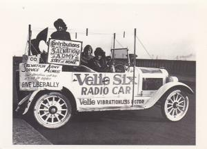 Advertising Salvation Army Fund Raising Car Circa 1922