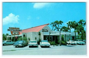 SARASOTA, FL Florida ~ Roadside MEL-O-DEE RESTAURANT  c1950s, 60s Cars  Postcard