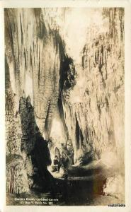 1920s Carlsbad Cave Monument New Mexico Leck RPPC Real photo postcard 5718