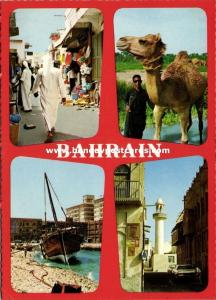 bahrain, Multiview, Camel, Street Scene, Fishing Boat, Mosque Islam (1960s)
