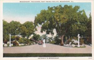 Illinois Mooseheart Entrance To Mooseheart Curteich
