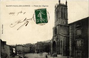 CPA   Saint-Paul-en-Jarrez - Place de l'Église  (580548)
