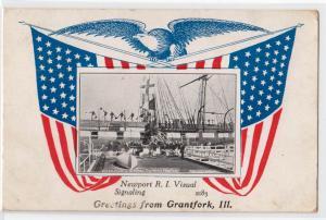 Newport R.I. Visual Signaling, Greetings from Grantfork IL