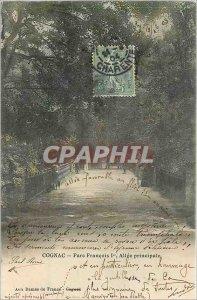 Postcard Old Cognac Park Allee Francois I. Main