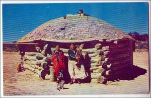 Navajo Indians & Their Hogan