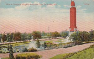 Missouri Saint Louis View In Compton Heights Reservoir Park 1917