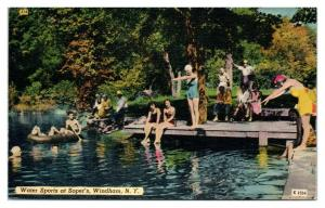 Water Sports at Soper's, Windham, NY Postcard *5N12