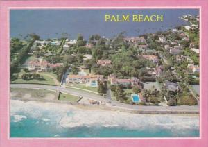 Florida Palm Beach Greetings From Florida Mansions Along Ocean Boulevard In P...