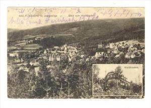 Bad Flinsberg , Germany now  Poland, Waldfrieden & panorama view, PU-1920