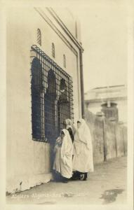 algeria, ALGIERS, Native Veiled Arab Women, Niqab (1930s) RPPC