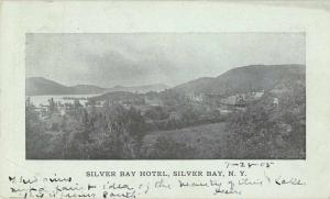 Silver Bay New York Silver Bay Hotel Scenic View Antique Postcard J63345
