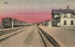 norway norge, HELL, Sunnanbanen, Railway Station (1910s) Postcard (3)