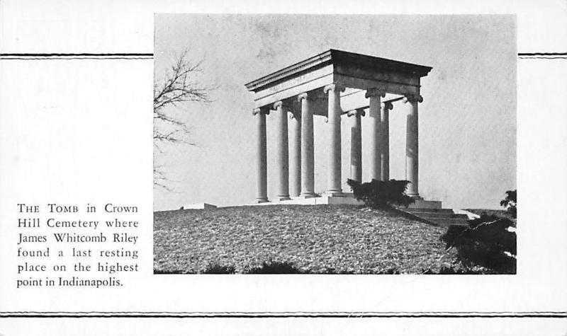 Indianapolis, Tomb in Crown Hill Cemetery, James Whitcomb Riley