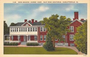Charlottesville Virginia~Davis Building Nurses Home Blue Ridge Sanatorium~1940