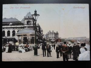 Yorkshire: Scarborough, The Spa Promenade showing Band Stand c1906