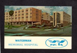FL Waterman Memorial Hospital, Tavares, Florida Postcard