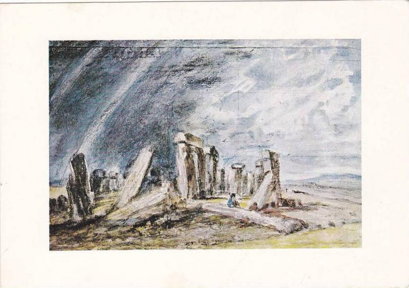 Stonehnege, Water-colour over black chalk by John Constable, British School, ...