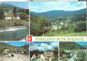 Czech Republic, Spindleruv Mlyn Krkonose, 1985 used Postcard